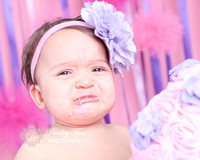 she doesn't like the cake first birthday cake smash photography session in ri