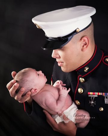 newborn baby girl photographed in ri by bailey fox photography in warwick at the baby studio