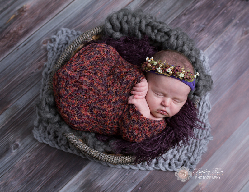 purple and grey wood this baby is wrapped up like a bean in a fall inspired color combo!