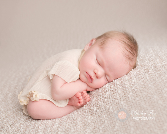 newborn infant pictures taken in ri photography studio