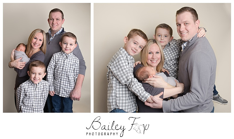 family and sibling newborn portrait