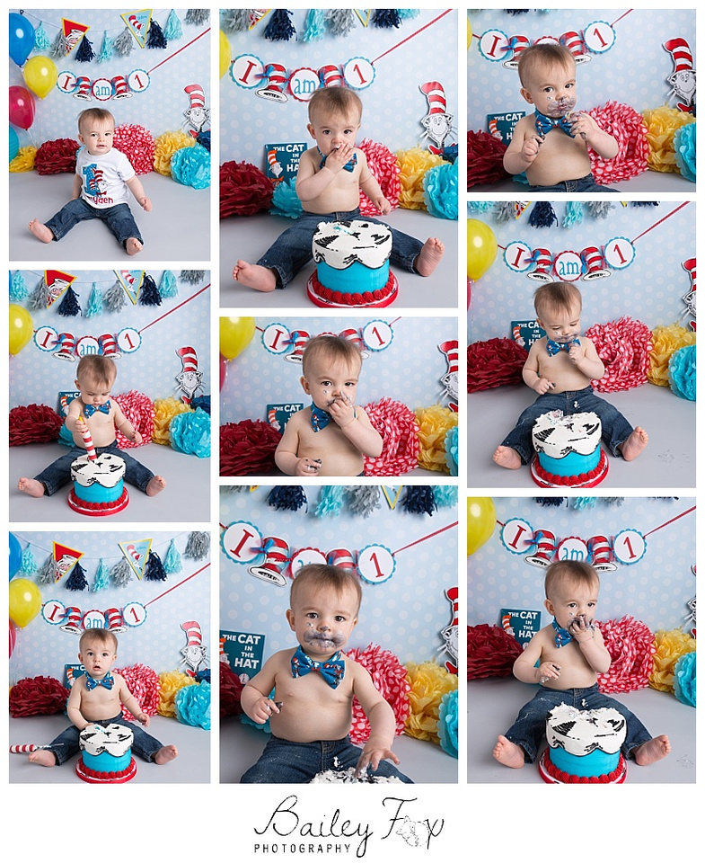 first birthday portraits with his big brother