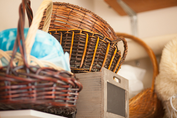 I have a large assortment of baskets and boxes for my newborn photography sessions all located in my ri photography studio