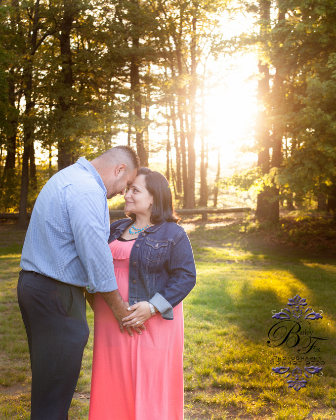 salmon colored maxi dress couples maternity portraits. taken in warwick ri by bailey fox photography.   professional newborn photographer