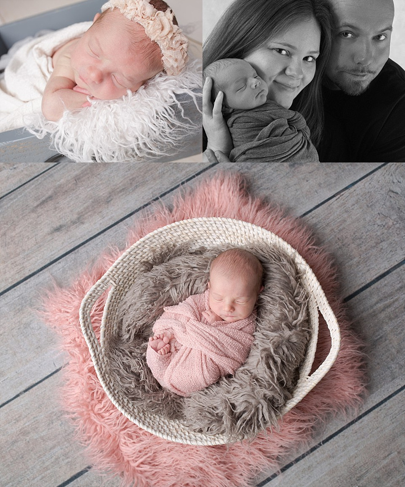 newborn girl portraits in ri studio