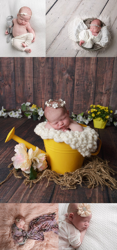 newborn baby girl photographed in ri baby studio