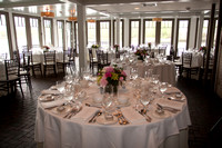 ri wedding photograph of the wedding reception room waterman grill providence ri