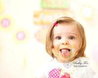 first birthday cake smash portraits