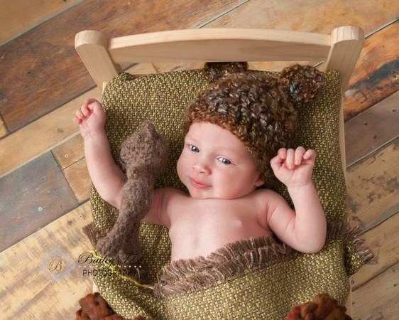 newborn photography created in studio by bailey fox